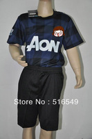 2013-2014 best quality ROONEY 10 away gray+black soccer jersey boy/youth/kids football uniforms 20#V.PERSIE shirt 10set/lot