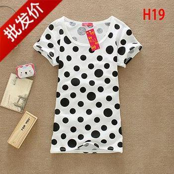 Women's clothes night market t-shirt short-sleeve