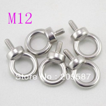 2pcs Eyes Bolts M12 Metric Threaded Marine Grade Boat Stainless Steel Lifting