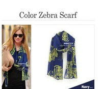 HOT Fashion Larger Animal Print Shawl zebra  Scarf Cotton Blends Wrap Stole voile scarf + Free Shipping