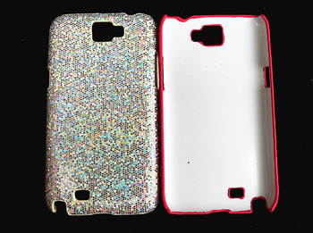 fashion high-grade series ultra thin glitter powder premier plastic hard back cover case for Samsung Galaxy Note 2 N7100 7100