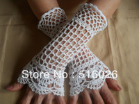 crochet fingerless glove, sexy women accessory, hand jewelry, Lace, short glove, wedding, bridal accessory 2pair/lot
