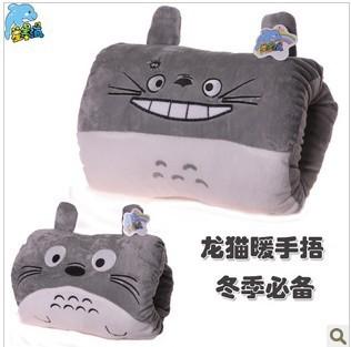 Plush toy totoro hand warmer cartoon hand po pillow muff winter