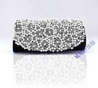 Free shipping 2013 pearl bag rhinestone bag evening bag bridal bag day clutch wedding bag 2954