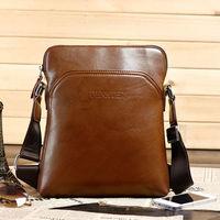 New Hot  Men's Hihg quality  leather solid business totes body across shoulder bag  bolsos bolsas saco sacs borsa free shipping