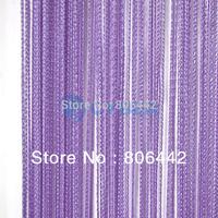 New Arrival 300cm*300cm String Line Curtain, Window Curtain, Fringe Panel, Room Divider Wedding Drapery Light Purple 16633