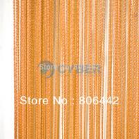Orange 300cm*300cm Line String Curtain, String Panel, Fringe Panel, Room Divider Wedding Drapery 16633