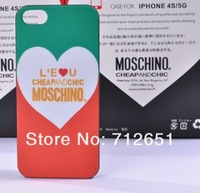 Fashion mos for chi no for iphone 5 phone case leopard print of love mobile phone case ipone5 phone case  DHL  free  shipping