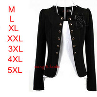 2013 Fashion Woman Blazer Plus size women's outerwear Lady casual slim short blazer coats jackets Black,Yellow,Pink,White,Orange