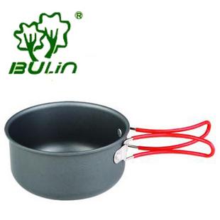 Bulin bl600-d13 folding handle aluminum alloy bowl camping tableware handle silica gel anti hot