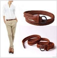 Women Fashion weave belts all match  pin buckle belts  ST085