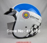Free shipping/Motorcycle helmet/Jet helmet/Fiber glass material /Vintage helmet/Open face retro 3/4 half helmet/DONAEMON