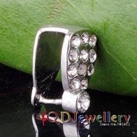 Free Shipping 100pcs/lot  10.8*8mm Crystal Pendant Pinch Bail fashion accessory jewelry V5334