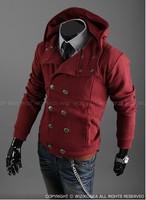 Free Shipping Man's Fashion Slim Fitted Zipper fleece Jackets Man's Sports Hoodie Sweater Coat Outewar