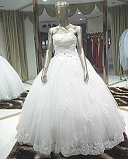 Suzhou wedding dress tube top diamond decoration the bride wedding dress lace skirt wedding dress bandage wedding dress