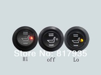 Universal High-off-Low temperature Round Switch carbon fibre car seat heater,auto seat warmer,automobile accessories