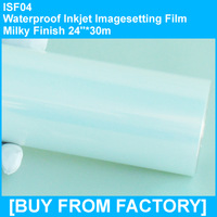 "Waterproof Inkjet Printing Film Milky Finish 24""*30m"