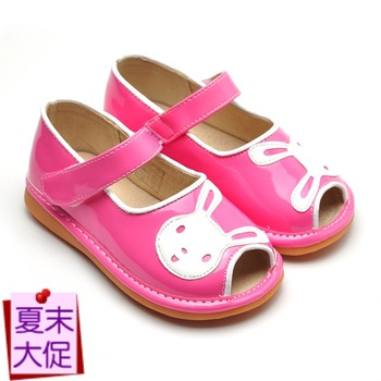 Freycoo female child open toe sandals baby sandals soft outsole toddler shoes 1 - 4