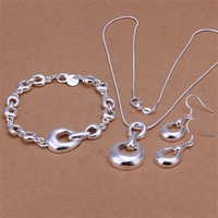 S346 925 silver jewelry set, fashion jewelry set Horse Hoof Earrings Bracelet Necklace Jewelry Set