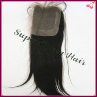 "FREE SHIPPING Wholesale peruvian top closure hair,lace top closure swiss lace 4""*4"" silk straight no shedding and tangle free"