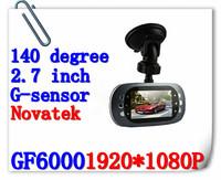 Free Shipping Car Dvr GF6000 With 1080P Novatek Chip 2.7 Inch G-Sensor Function Car Black Box+ Retail Box