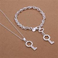 S359 925 silver jewelry set, fashion jewelry set bracelet necklace Jewelry Set