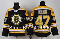 Free Shipping  Cheap Authentic Ice Hockey Jerseys Boston Bruins Jersey #47 Torey Krug Jersey Wholesale Mix Order