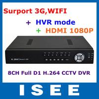 New HD CCTV 8CH Full D1 H.264 DVR Standalone Super DVR SDVR/HVR/NVR Security System 1080P HDMI Output DVR Free Shipping