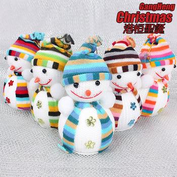 Free Shipping(5pcs/lot) -14cm*10cm snowman Christmas tree  Decoration ornaments randomly colors
