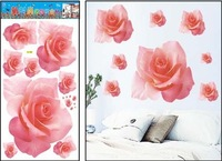 wall decal ,size 34*68CM for bedroom flowers