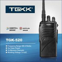 2 way radio walkie talkie, TGK-520 the portable radio