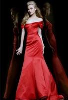 Hot New Fabulous Design For Ladies Off-shoulder Elegant Mermaid Red Prom Dresses 2013