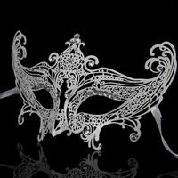 Free shipping High Quality  Luxury Diamond Metal Masquerade Masks Iron Art Crafts