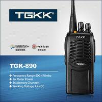 walkie talkie best range, TGK-890 5W UHF two way radio