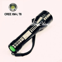 1pc SKY*RAY 1JC8 CREE XM-L T6 1300lumens LED Flashlight Good Hand Touch LED Torch Free Shipping