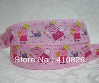 WM ribbon wholesale/OEM 5/8inch 715005 angel Folded Over Elastic FOE 50yds/roll free shipping
