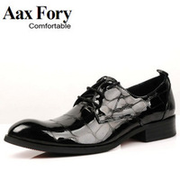 summer single shoes men dresss British patent leather retro leather business men's Son freeship male oxford shoe