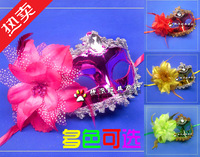 Free Shipping Halloween masquerade masks mask beauty feather mask princess colored drawing mask