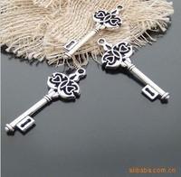 Alloy pendant, charm , zakka, 45x16mm, antique silver plating , item MCB1116