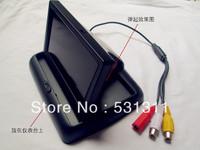 """4.3"""" TFT Monitor LCD Digital Car Rearview Color Camera ,free shipping 1pcs /lot"""
