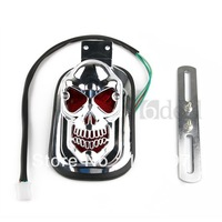 1 pc Skull Taillight Tail Light License Plate Bracket for Harley Motorcycle