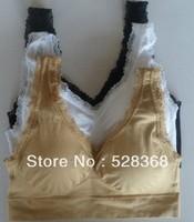 wholesale~60pcs/lot(20sets)  genie bra with lace, Genie Bra seamless bra, 3 color a set (opp bag)