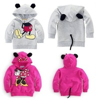 Children's clothing  fashion leisure boy girl modelling fleece children hoodie kids sweatshirts 5pcs/lot  Free shipping