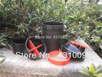 Free shipping500ml/17oz  Protein Powder Shaker Bottle 3 layers BPA FREE