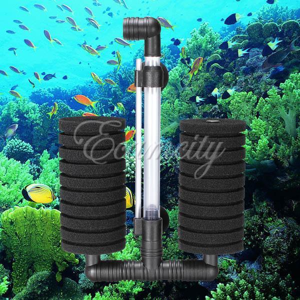 Aquarium Biochemical Bio Sponge Filter Air Pump With Suction Cup Fish ...