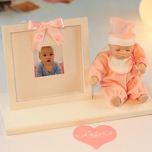 Freeshipping moldura de foto de lã cerâmica presente de aniversário caixa de música caixa de música bobble cabeça da boneca de presente pequena(China (Mainland))