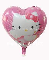 Free shipping wholesale 20pcs/lot 18inches hello kitty foil balloon,helium balloon party balloon