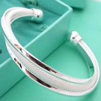 925 silver bangles-ABB19-Free shipping wholesale 925 Silver Dreamlike Bangle Bracelet 925 jewelry,925 sterling Silver Bracelet