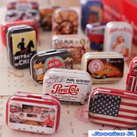 Free Shipping! 32pcs/lot VintageTin Box Coin Saver Jewerly Case storage box gift tin