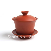 On sale! Yixing Large Size Purple Clay Gaiwan Tureen Sancai Cup Kungfu Tea Set